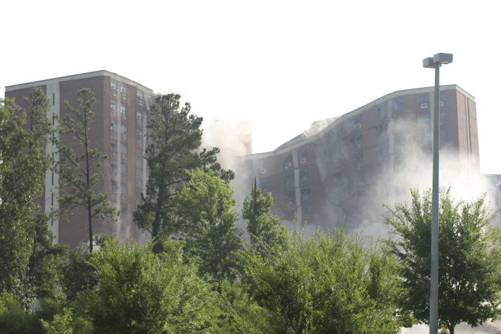 Rose Towers implosion