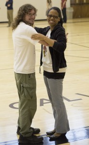 Candace Hamner and Jesse Wright dance together during a CTBD practice.