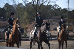 Freshman Kimbrell Burnett competing against Berry College and Judson College in Class 2A: Beginner Walk/Trot/Canter.